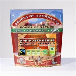 Organic Fairtrade Apricot Kernels 100g by Pearls of Samarkand