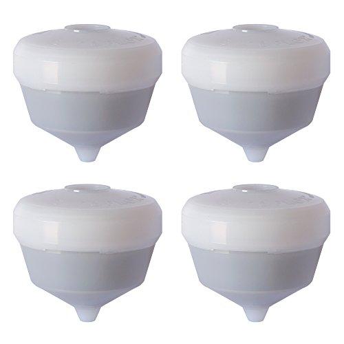 Siroflex 2800/4S set 4 Cartucce Ricambio UNI 3-A depuratore acqua rubinetto, Purificatore acqua universale Rubinetto per Cucina, affinatore acqua. Per rimozione Cloro con filtro carboni attivi.
