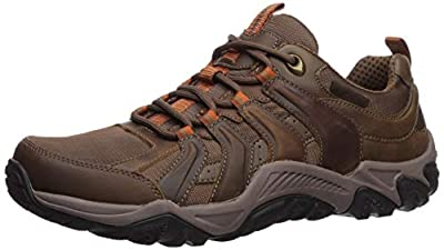 Skechers Men's Outline-SOLEGO Trail Oxford Hiking Shoe, CDB, 11.5 Medium US