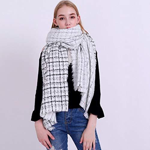 De nieuwe Europese en Amerikaanse kleine geur stijl imitatie kasjmier warme sjaal herfst en winter lange zilveren sjaal paar nek