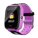Kids Smart Watch, B.B.PAW Phone Watch Location Tracker SOS Timer Alarm Clock Camera Pedometer 1.44' Touchscreen Wristband Watch-Pink