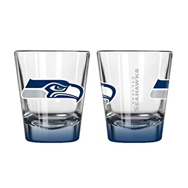 NFL Seattle Seahawks Elite Shot Glass, 2-ounce, 2-Pack