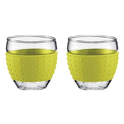 Bodum - Set 2 verres borosilicate bande en silicone vert