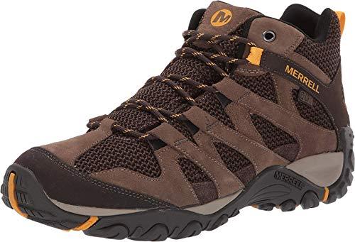 Merrell Bota de caminhada masculina Alverstone média impermeável, Pedra Merrell, 11 Wide