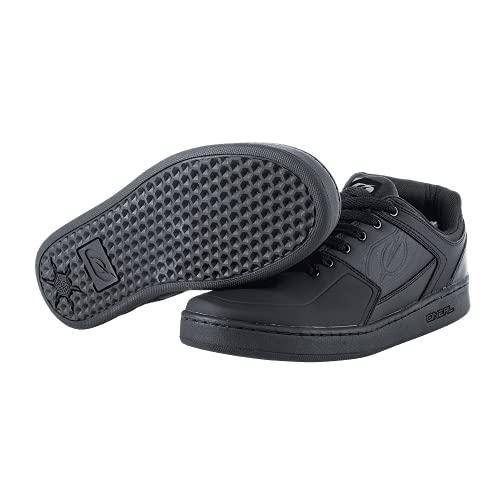 O'NEAL | Chaussure de vélo | VTT DH FR Descente Freeride | Bonne adhérence, structure de la semelle en nid d'abeille, protection de la malléole | Chaussures PINNED PRO FLAT | Adulte | Noir | Taille 44