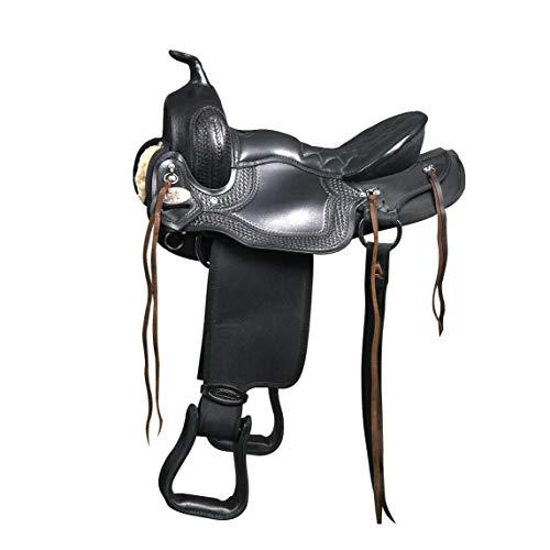 La Moda De Una Silla De 17 Pulgadas Occidental Gaited Trail Placer Caballo De La Resistencia De Una Silla Negro