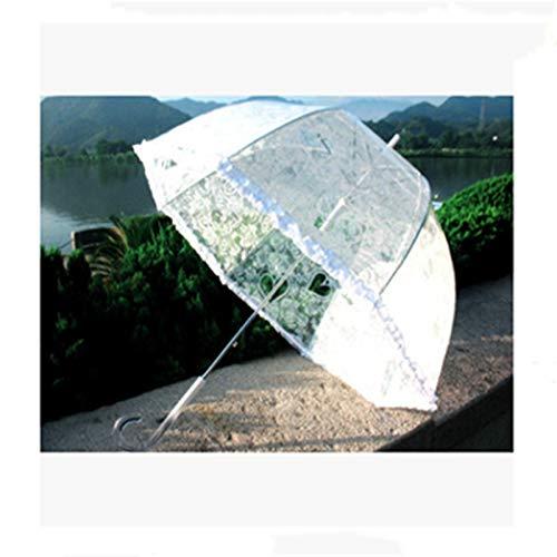 BaoYPP Paraguas Paraguas Nupcial TOU Apolo arqueado de Hongos Paraguas de Corea Princesa Paraguas de Encaje Fácil de Usar (Color : White, Size : 23 Inches)