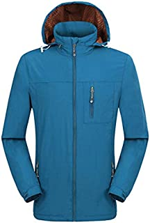 BEESCLOVER Men One Layer Thin Spring Summer Autumn Windbreaker Camping Hunting Outdoor Male Hooded Coat Waterproof Hiking Jackets