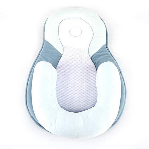 WWWL Almohada 10.3Newborn Kids Baby Pillow Safe Cotton Pillow Cushion Prevent Flat Infant Head Shape Sleep Nest Pod Anti Roll Crib Nest Bedding BL