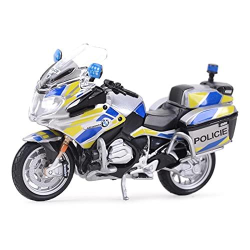El Maquetas Coche Motocross Fantastico 1︰18 para R1200RT Police Diecast Modelo Aleación Juguete Moto Negra Colección Desmontable Juguetes para Niños Educación Expresión De Amor (Color : 2)