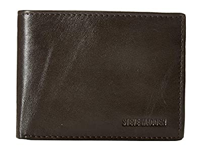 Steve Madden Men's Glove Passcase Wallet, Black, One Size
