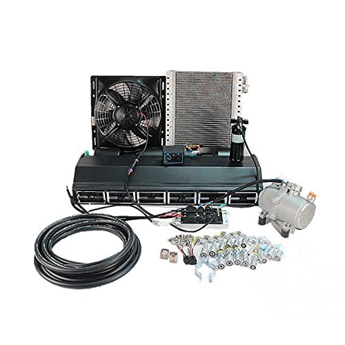 Compresor de aire acondicionado eléctrico para automóvil de 12V 24V, adecuado para aire acondicionado de camiones, autobuses, furgonetas y caravanas de servicio pesado (12V)
