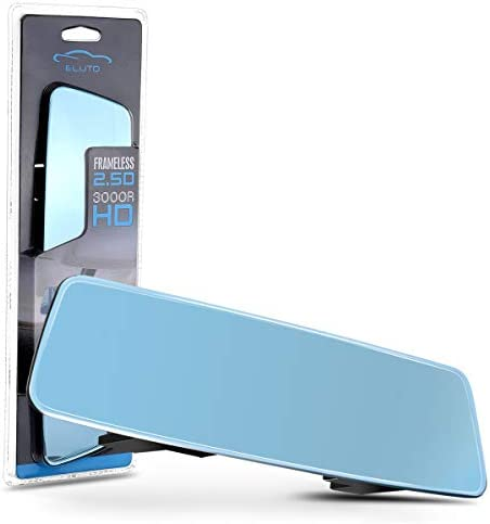 ELUTO Anti glare Rear View Mirror Wide Angle Rearview Mirror Rimless Panoramic Curve Convex product image