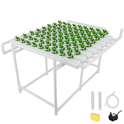 DreamJoy Hydroponic Grow Kit 72 Sites 8 Pipe NFT PVC Hydroponic Pipe Home...