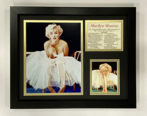 Legenden Sterben Nie Marilyn Monroe Ballerina Gerahmtes Foto Collage, 11x 35,6cm