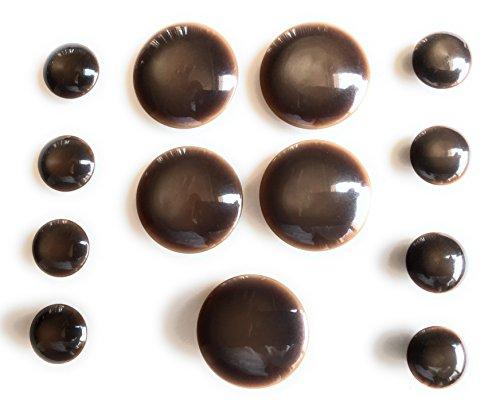 HB marrón botón Set–-~ para perchero de pared de Blazer, trajes, deporte, uniforme, chaqueta, vestidos 13pc.