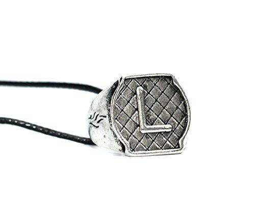 Colgante con anillo diseño de escudo de la familia Lightwood, de Cazadores de Sombras, en caja de regalo