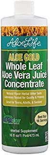 Aloe Life – Aloe Gold Natural Flavor Herbal Bitter, Supports Occasional Indigestion, Bloating, Regularity, Energy and Optimum Health, 16 Fluid Ounce