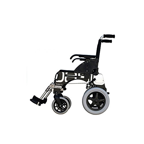 Forta fabricaciones - Silla de ruedas de aluminio FORTA Basic - 41 cm, Basic Rojo, 300 mm