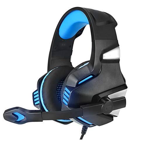 YYZLG Casque de Jeu, Casque Vibration Edition E-Sports Gaming Headset-BlackBlue