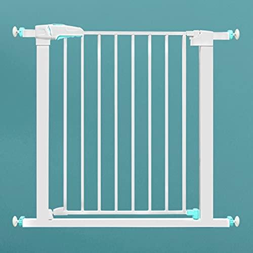 YYFANG Valla Madera, Valla para Mascotas Barrera De Escalera Puerta De Seguridad para Niños Apertura De Puerta Bidireccional Sin Perforaciones Apto para Interior Cocina Balcón