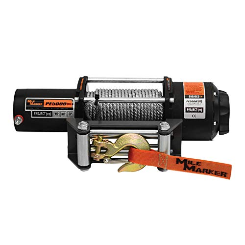 Mile Marker PE5000 UTV/Side-by-Side Electric Winch with Steel Cable - 5,000 lb. Capacity