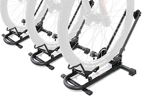 Repacked BIKEHAND Bicycle Floor Type Parking Rack Stand - for Mountain and Road Bike Indoor Outdoor Nook Garage Storage Pack of 3