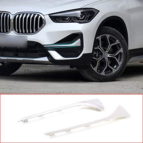 2 pezzi ABS cromato per X1 F48 2019 2020 auto anteriore fendinebbia copertura di ricambio accessori