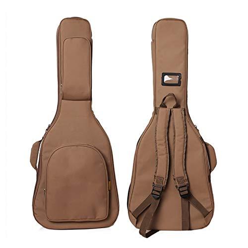 HKJZ Guitar Bag Guitar Bag 20MM Thick Guitar Bag 41 Inch Folk Guitar Bag Waterproof Padding Guitar Case With Shoulder Straps Backpack Padded Soft Case (Color : Brown, Size : Medium)