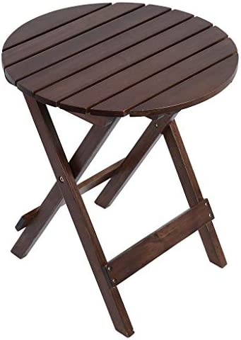 Adirondack Portable Outdoor Folding Side Table Weatherproof and Rust Resistant Round End Table product image