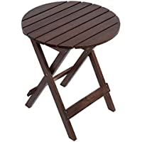 Wooper Adirondack Portable Outdoor Folding Side Table for The Beach, Camping, Picnics, Cookouts and More (Brown)