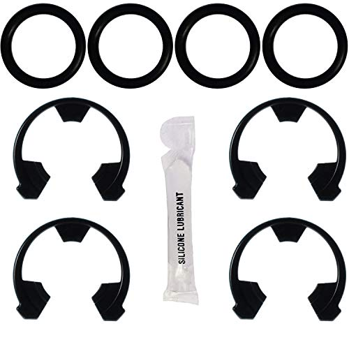 Water Softener Clip and O-Ring Kit - Authentic OEM Parts - 7337571 and 7337563 Kit Bundle - Includes 4 each of clip 7116713 and O-ring 7170288 plus 1 gram silicone o-ring lubricant