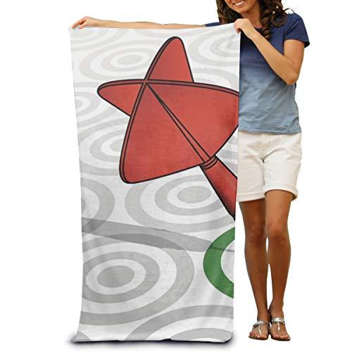 Miliface Beach Towel Blanket Quick Dry Towels Red Dart Green Target Bath Swim Towels Oversized