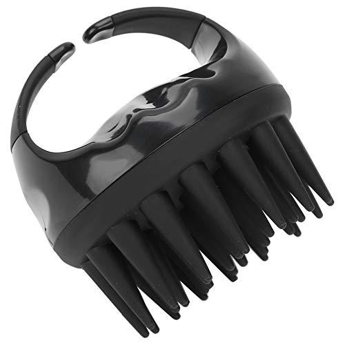 Cepillo de pelo negro agradable para la piel, cepillo de champú de mano con mango ergonómico, para uso personal en la peluquería casera(black)