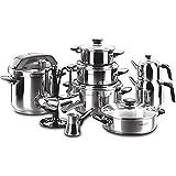 LIXUDECO Juego de sartenes Korkmaz A 1738 Kappa Hiper team 18 PCs CONJUNTO DE COCINA-Utensilios de cocina Set-cocina-utensilios de cocina