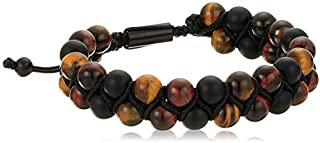 Steve Madden Mens Tigers Eye and Beaded Double Strand...