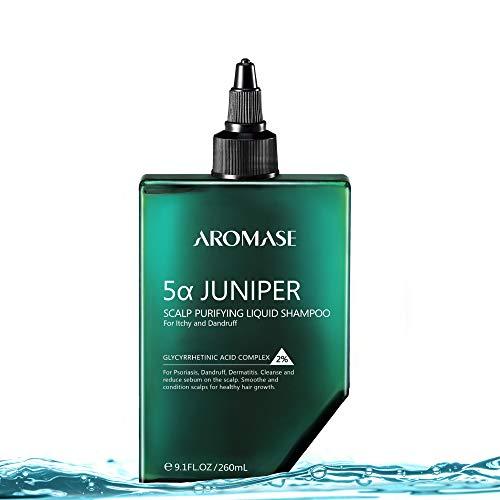 AROMASE 5α Juniper Scalp Purifying Liquid Shampoo, Award Winning Scalp Exfoliator Ideal for Dandruff, Psoriasis, Dermatitis, Dry & Sensitive Scalp, Oily hair, Scalp Cleanser (9.1 Fl Oz)