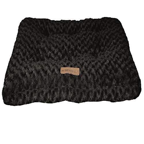 M-PETS Shetland Coussin pour Chien Noir 74 x 52 cm Taille S