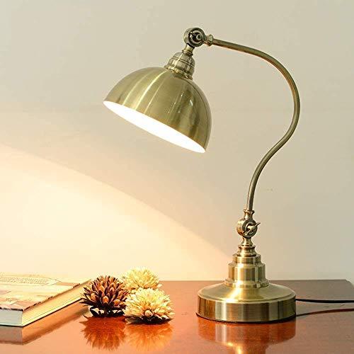 miwaimao Lámpara de escritorio con interruptor de encendido, luz LED de lectura con protección ocular, foco plegable de metal, utilizado para estudiar, iluminación de escritorio E27