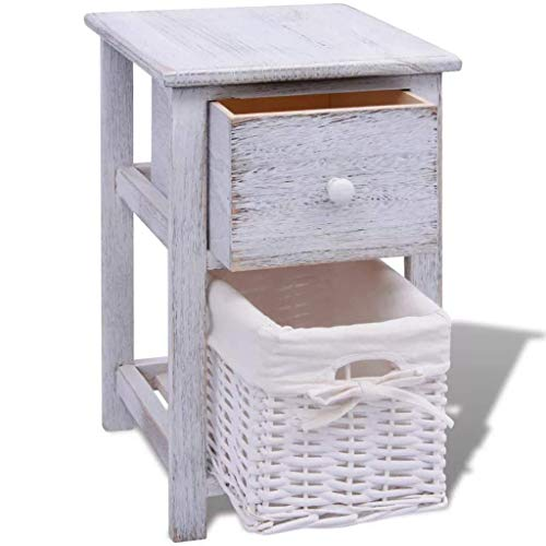 JRPT Bedside Cabinet Table Easy to Organize,Bedroom Nightstand Suitable for Bedroom, Living Room, Corridor, Office,Chest of Drawers 28 X 31 X 45 cm
