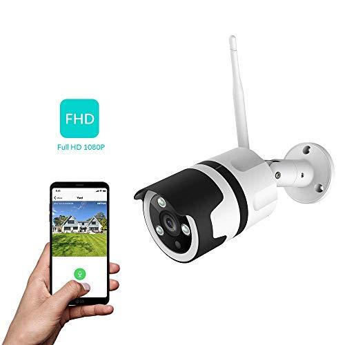 NetVue Camaras de Vigilancia Wifi Exterior 1080P, Compatible con Alexa, Exterior...