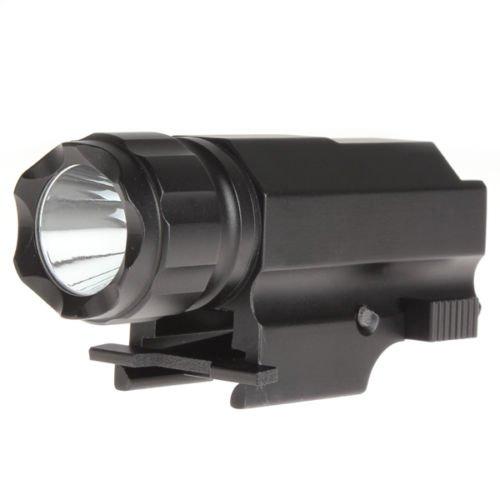 Mastiff P10CREE XM-L2500lúmenes 2-mode LED lámpara 20mm Weaver Picatinny Rail Quick Release 1x CR123A recargable celdas linterna táctica linterna