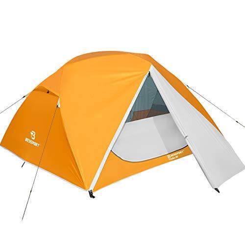 Bessport Tente de Camping 3 Personnes Ultra Légère Facile à Installer Tentes Dôme Tente avec 2...