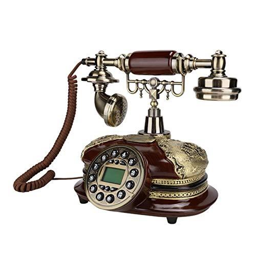 WSZMD Teléfono Pared Retro Teléfono Retro Escritorio En Casa FSK/DTMF Teléfono con Cable De Sistema Dual con Pantalla De Telegrama Entrante Teléfono Retro