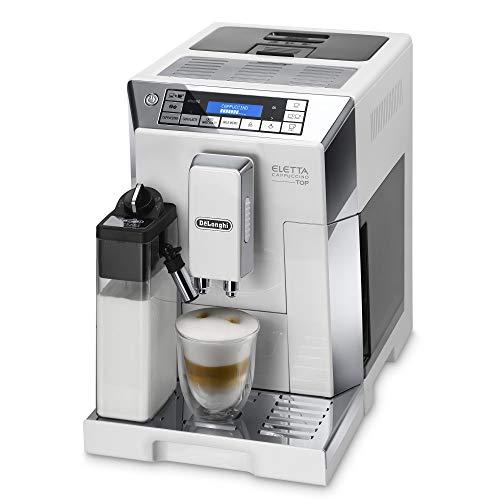 De'Longhi ECAM 45.760.W Eletta Cappuccino Macchina da caffè Automatica, 1450 W, 2 Litri, Acciaio e plastica, Argento, Bianco