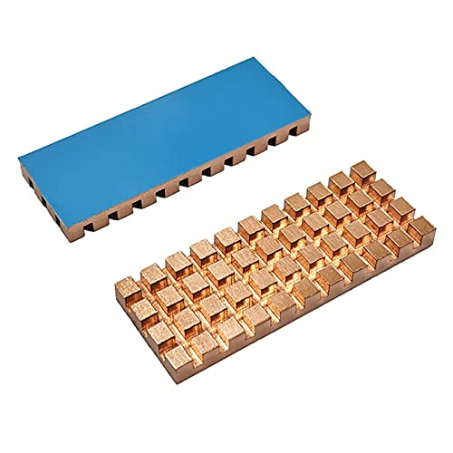 LJGFH Heat Sink Pure Copper Heatsink Cooler Heat Sink Thermal Conductive Adhesive for M.2 NGFF 2260 PCI-E NVME SSD 48x18x0.5/1.5/2/3/4mm (Color : 48x18x4)