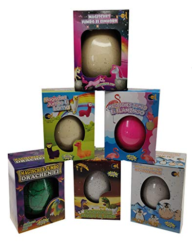 Fun Trading Magic Growing Egg - Magisches Jumbo Ei 6er-Set - Wachsende Eier - Schlüpf-Ei XL