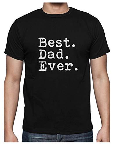 Green Turtle T-Shirts Camiseta para Hombre - Regalos para Hombre, Regalos para Padres. El Mejor Papá del Mundo - Best Dad Ever X-Large Negro