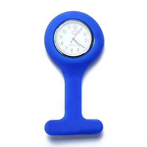 TrifyCor Medizinische Krankenschwesteruhr, spezielle Taschenuhr aus Silikon, Blau