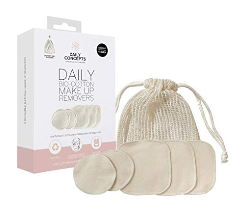 DAILY CONCEPTS Daily Bio Cotton Makeup Removers Multi Pack